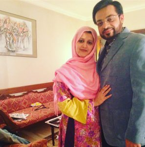 sad tweets wife and daughter after amir liaqaut got
