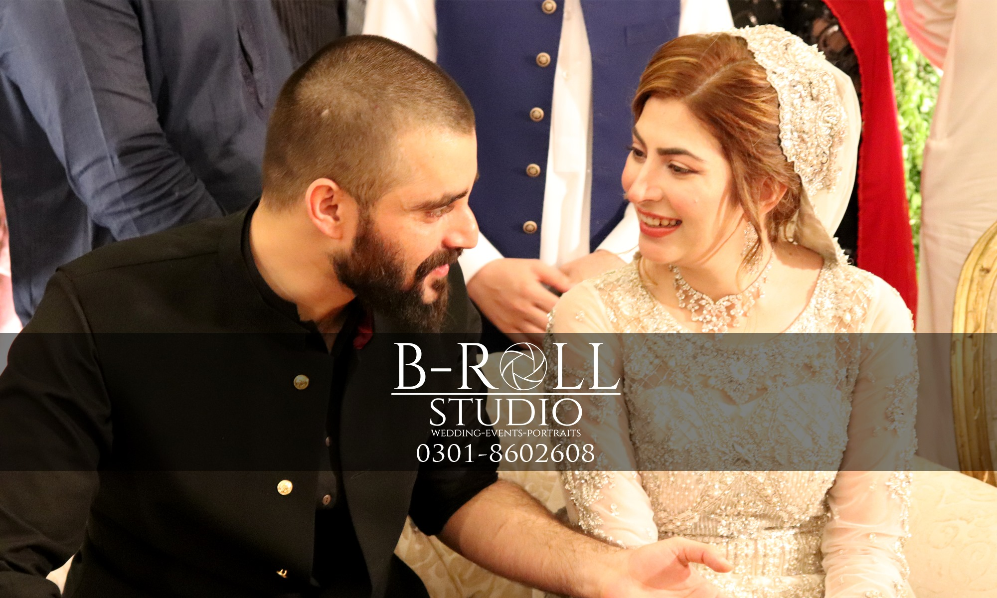 Hamza Ali Abbasi And Naimal Khawar Reception Pictures