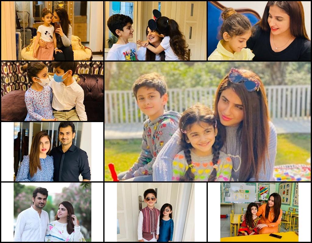 Famous Celebrity Fashion Designer Faiza Saqlain With Her Husband And Children Health Fashion