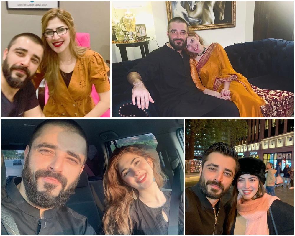 Naimal Khawar Khan's latest Pictures With Husband Hamza Ali Abbasi ...